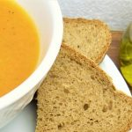 Parsnip, carrot soup puree